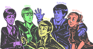 Request: Alexxa and the Beatles by CrystalthaFox