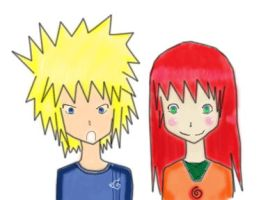 Childhood: Minato.:.Kushina by dreams-celestial