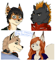 All of my OC's by fearlarsen