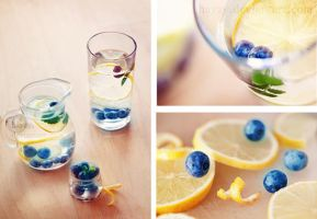 Blueberries and lemons by hayzy