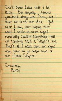 Buffy's Journal Entry 1 Pg 2 by Her-Beta