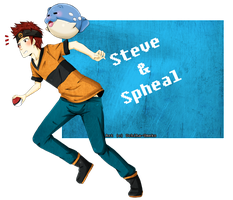 Steve and Spheal by Uchiha-Umeko