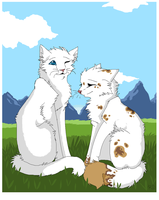 Cloudtail and Brightheart by RoughSpotted