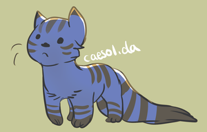 What color is the cat by Caesol