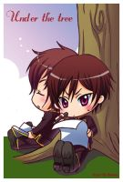 Code Geass : Under the tree by Bayou-Kun