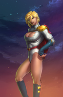 Powergirl + Vest by thelearningcurv