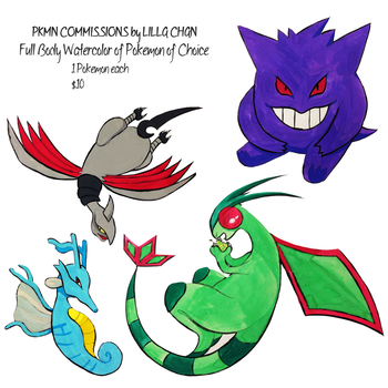 Pokemon Color Commissions by OwlMask