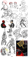 Mass Effect art block doodles by audelade