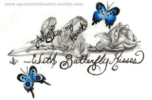 Tattoo Design, Rose and Butterflies by Glowe94
