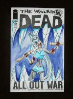 icy walking dead by davidartistic