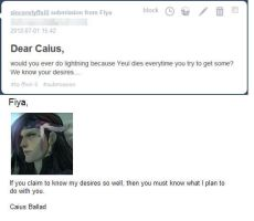 OMG he actually answered it! by NekoCapsule