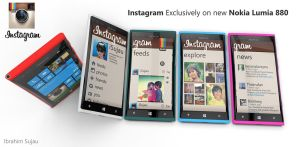 Nokia Lumia and Instagram Concept by Sujau