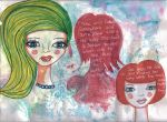Mixed Media Girls by diva42