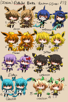 20 points-  GIJINKA SPECIAL BATCH - Eeveelution by Ayuki-Shura-Nyan