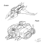 Evalor  and Psylo alt mode roughs by AB0180