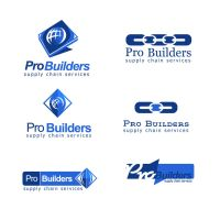 Pro builders company logo options preview by ohmto