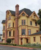 Yellow Victorian mansion by finhead4ever