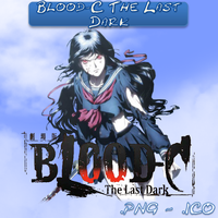 Blood-C The Last Dark ICO and PNG by bryan1213