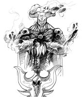 Hades lineart by TheRisingSoul