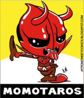 Momotaros sticker by PacoAfroMonkey