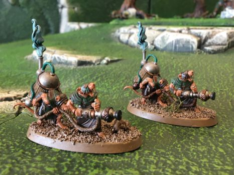 Clan Cherno - Skaven Warpfire Thrower Weapon Teams by Quiet-Lamp