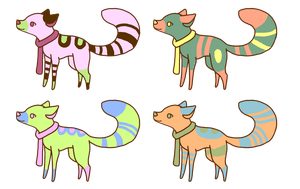 Canine adopts 10 points each by JelloAdopts