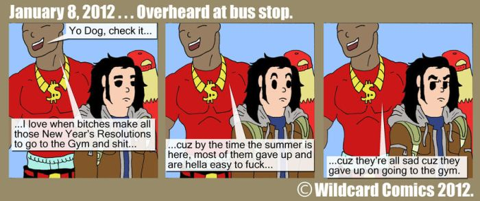 Overhead at bus stop by wildcardcomics