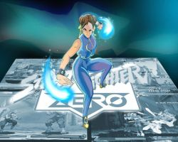 Street Fighter Alpha II Chun Li by badokami