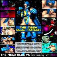 The Mega Blue Yonder - Front Cover by Realms-And-Void