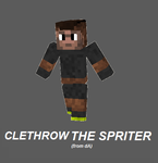 Minecraft Skins: Clethrow The Spriter by ANGI1997