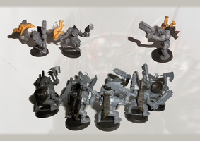 Unpainted ork mob conversion by orcbruto