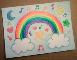 ACEO - Rainbow musical charms by strryeyedreamr27