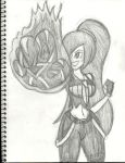 Paulinda with Her Meteor Hands by AtomicKingBoo
