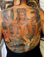 quan yin goddess of compassion and mercy tattoo by seanspoison