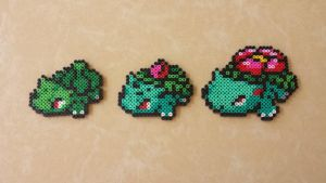 Bulbasaur Family - Pokemon PB Sprites by MaddogsCreations