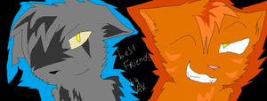 cute Graypaw and Firestar by Rikokitten
