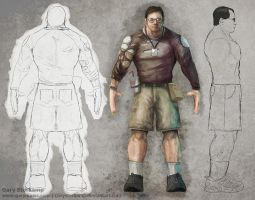 "Tim Sweeney Model Sheet ""Done"" by GaryStorkamp"