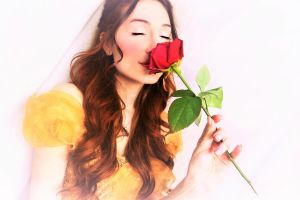 La vie en Rose - Belle - Beauty and the Beast by Sarina-Rose