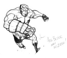 Hellboy sketch... by jpm1023