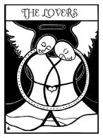 tarot deck - THE LOVERS by skeevy