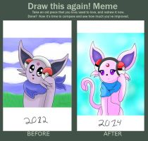 Pokemon Espeon - Draw this again! Meme by ZoruDawn