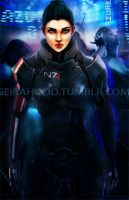 Commission: Female Shepard by Geirahod