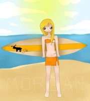 Surfer Chick Morgan by LilMissJulianne