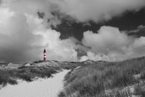 Dunes, Clouds and a Lighthouse by BilderAusNF