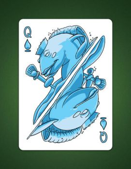 My Queen Of Spades aka Queen Of Water Illustration by LineDetail
