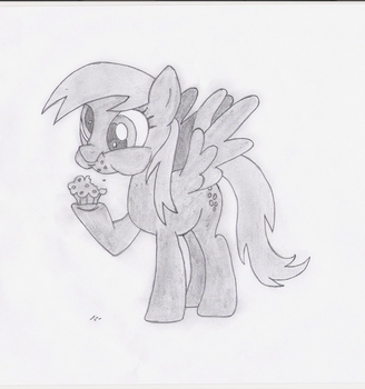 Derpy with muffin :3 (Pencil) by Dashy94