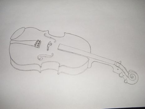 Contour Drawing - Violin by Zerone-Penguin