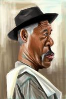 Morgan Freeman by keizler