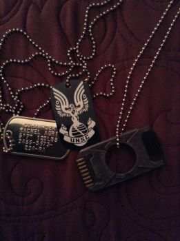 Dog tags and data chip by videogamemaniac001
