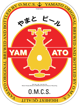Yamato Beer Label by talos56